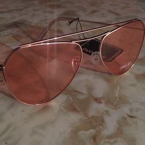 Rose Gold, light pink sunglasses.